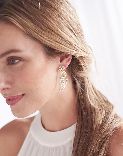 Dareth Colburn Francesca Floral Drop Earrings (JE-4165) Wedding Earrings photo