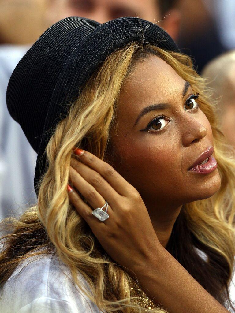 Beyoncé's split shank emerald-cut engagement ring