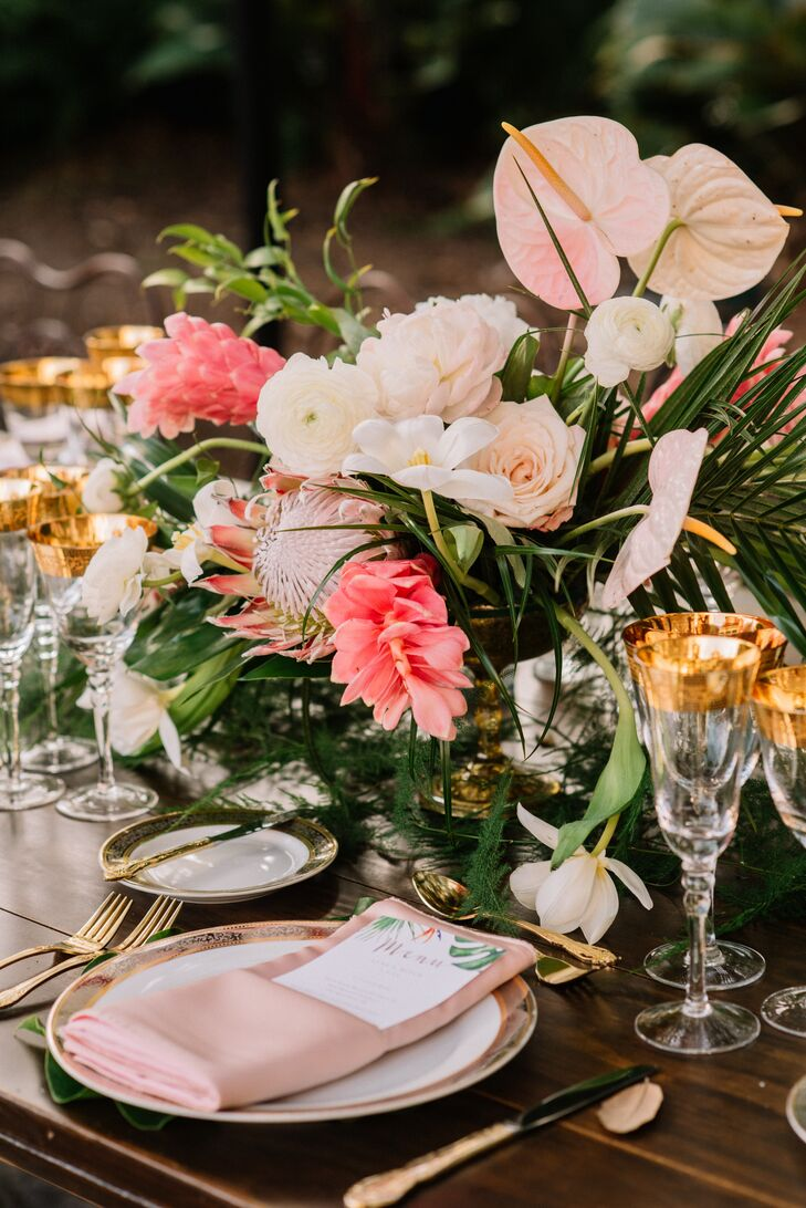 Tropical Pink Centerpieces