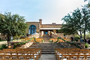 Wooden Chairs at Texas Outdoor Ceremony