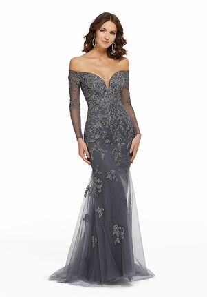 MGNY 72015 Blue Mother Of The Bride Dress