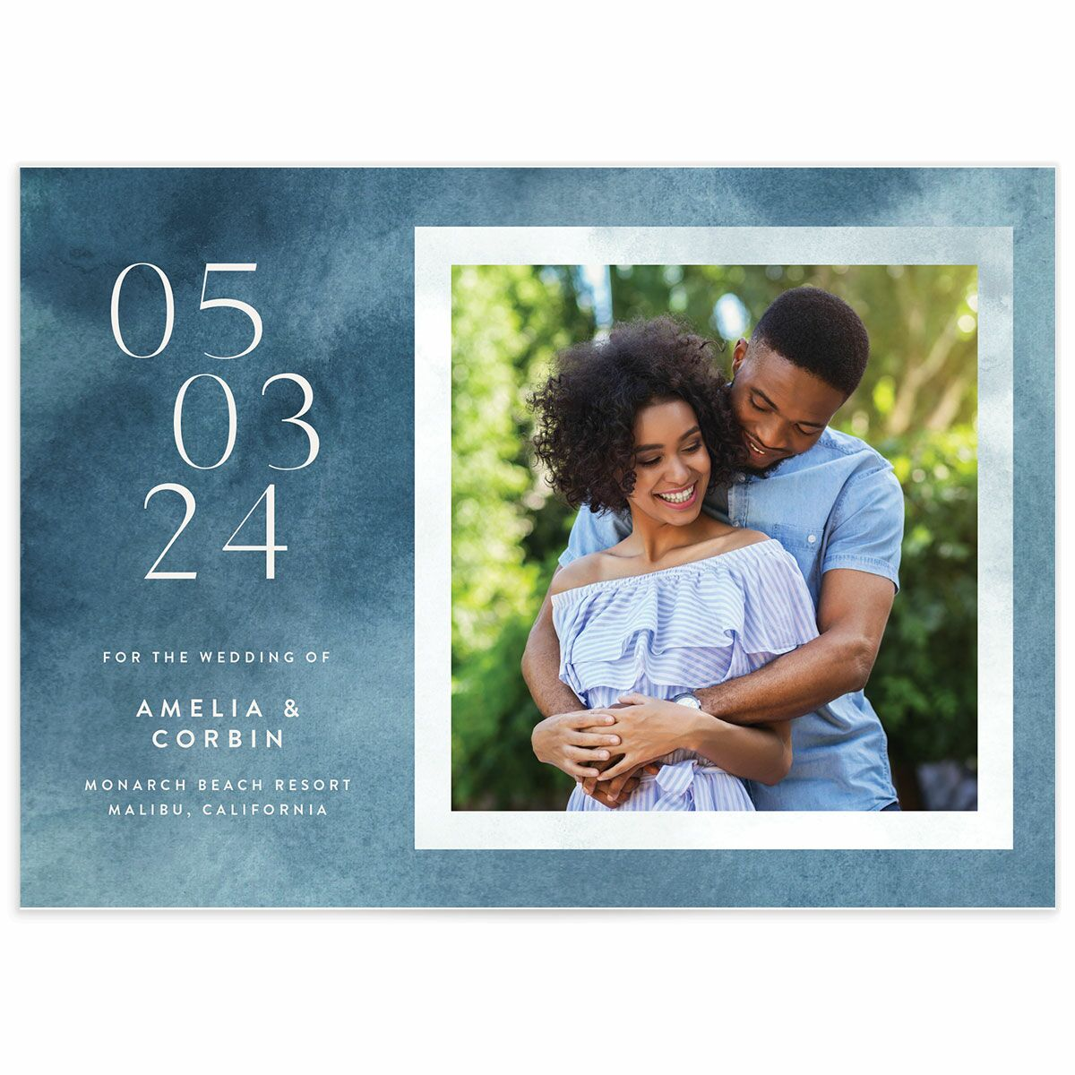 A Save the Date from the Elegant Ethereal Collection