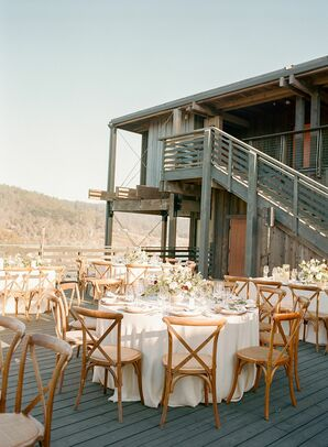 Reception Tables and Chairs at Timber Cove Resort in Jenner, California
