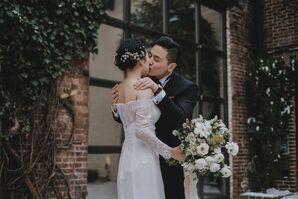 Elegant, Classic Couple at Winter Wedding