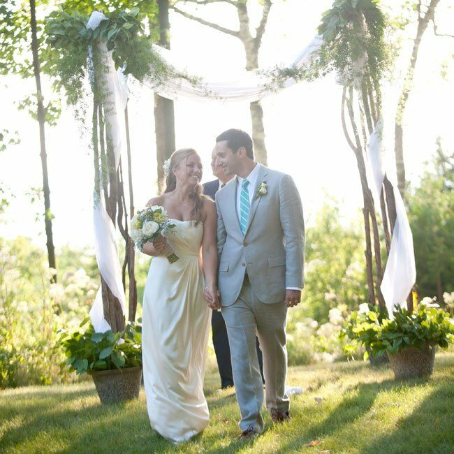 Outdoor Wedding Illinois: A Rustic Outdoor Wedding In Fish Creek, WI