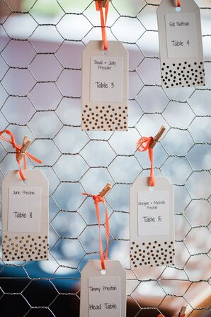 DIY Polka Dot Escort Card Tags