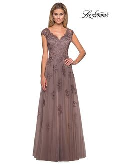 La Femme Evening 26942 Blue Mother Of The Bride Dress