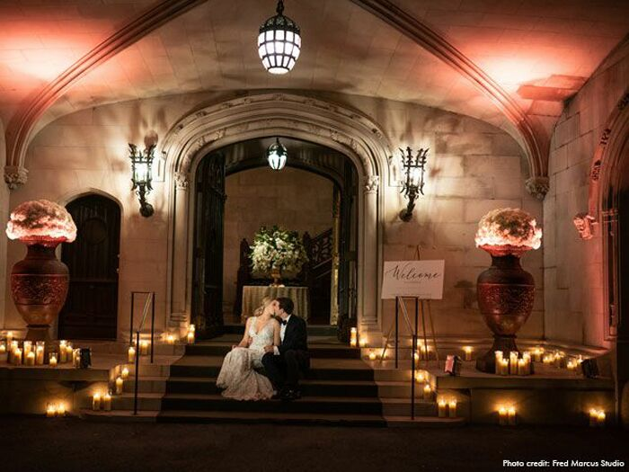 Winter wedding venues in Sands Point, New York.