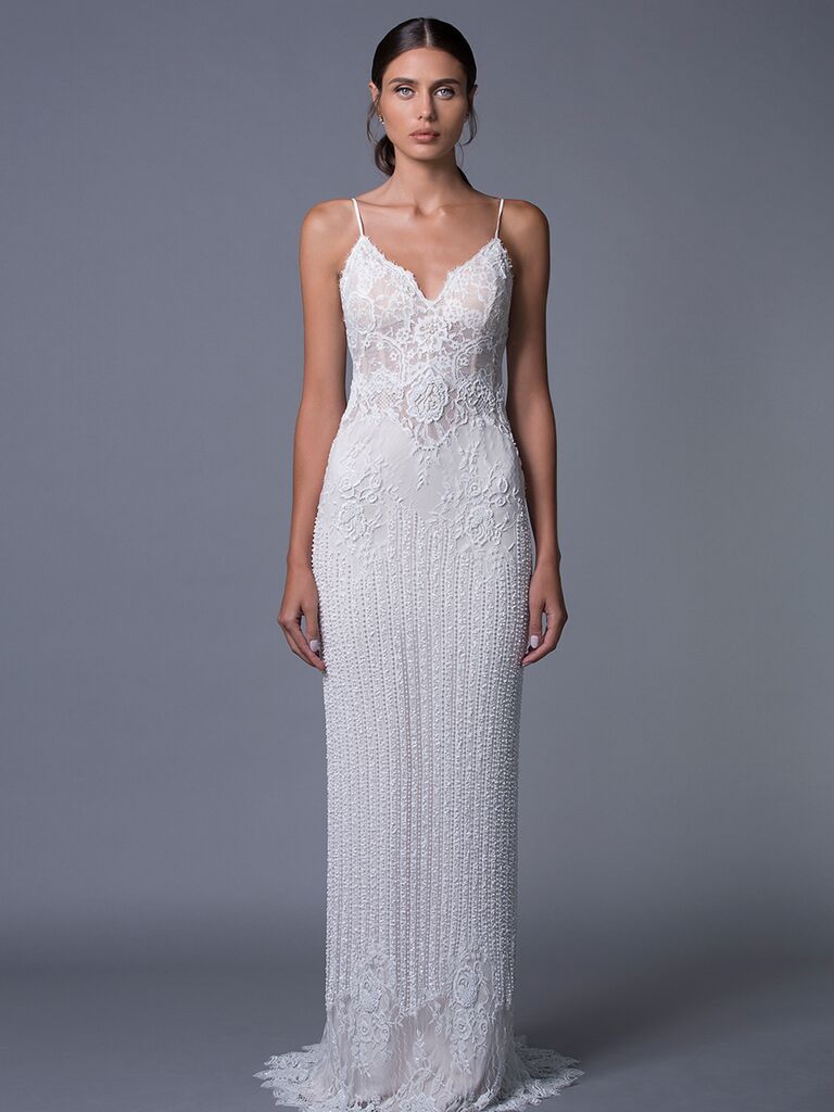 Lihi Hod 'Amber' fitted lace wedding dress for Fall 2017
