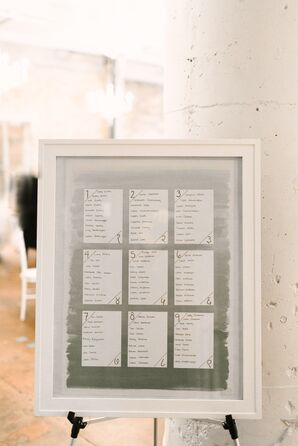 Painted Gray Ombré Seating Chart