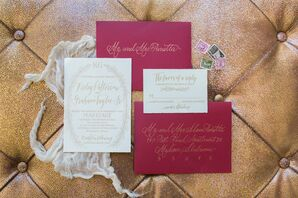 Ruby Red Invitations and Menu Cards