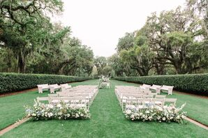 Romantic Ford Plantation Garden Ceremony