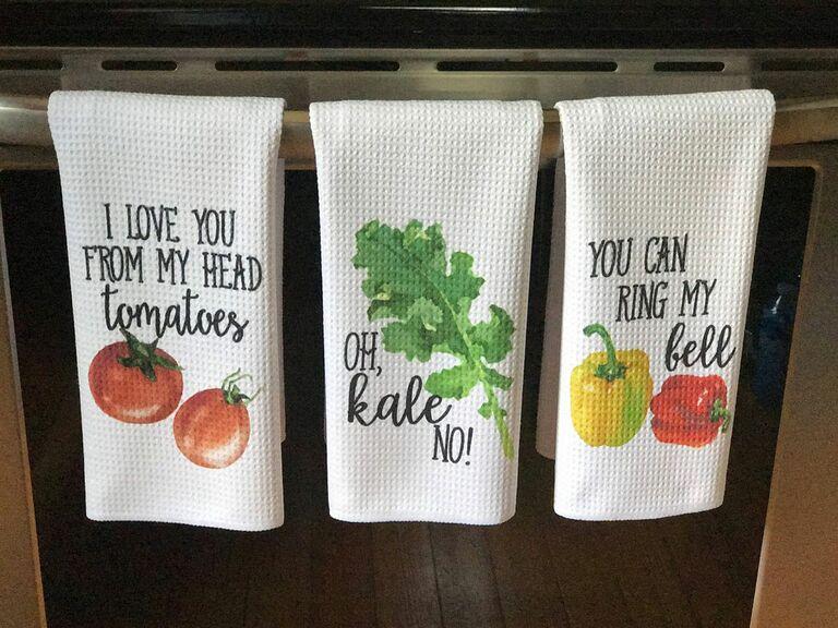 funny dish towels