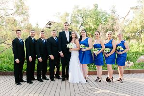 Blue and Black Wedding Party Look