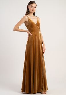 Jenny Yoo Collection (Maids) Andi V-Neck Bridesmaid Dress