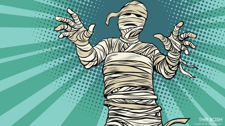 Halloween Zoom Background - Vintage Mummy