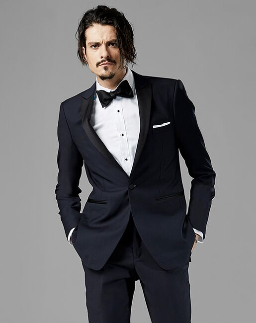 Generation Tux Midnight Blue Peak Lapel Tuxedo Blue Tuxedo