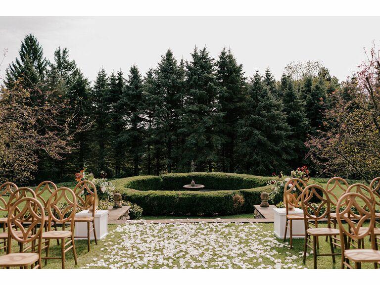 Magical outdoor garden wedding venue