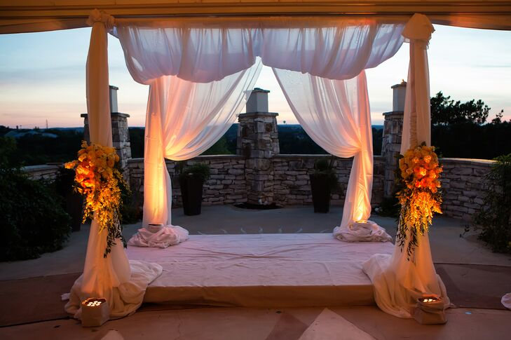 Draped Linen Altar at One World Theatre