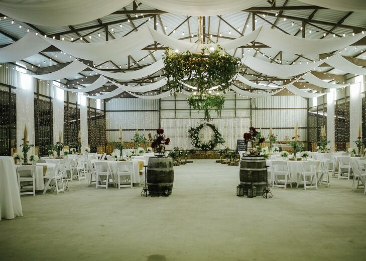 Rustic and Industrial Reception at Rock' N Dollar Ranch in Lumberton, Texas