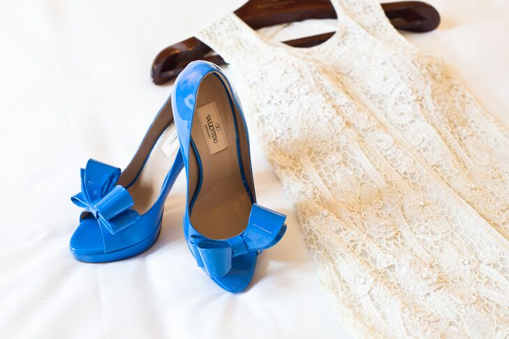 Blue Valentino Wedding Heels With Bows