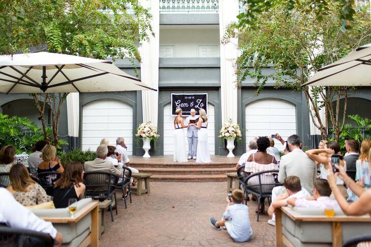 Same-Sex Ceremony at Kimpton Brice Hotel in Savannah, Georgia