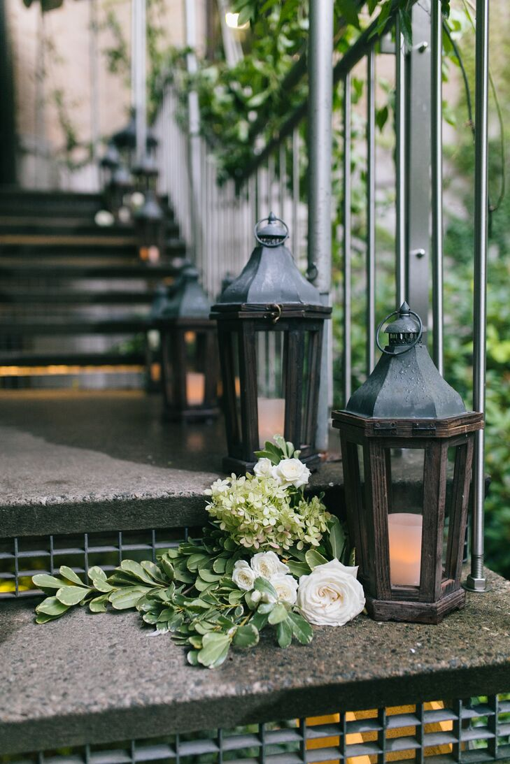 Decorative Vintage Lanterns with Votive Candles