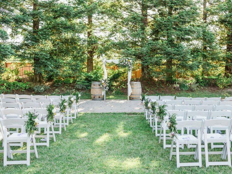 Wedding venue in Gilroy, California.