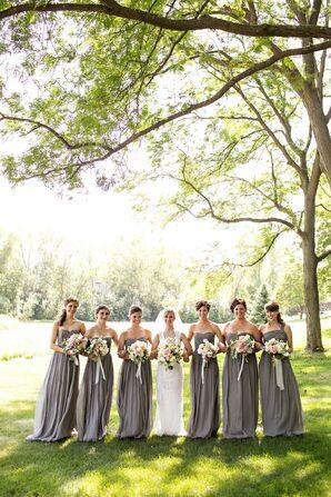 Gray Bridesmaid Look
