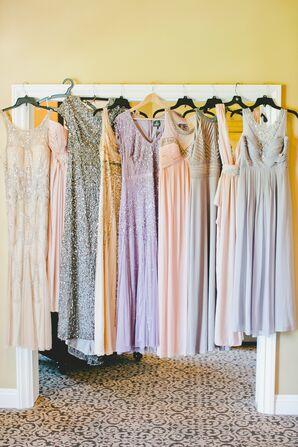 Pastel Embellished Bridesmaid Dresses