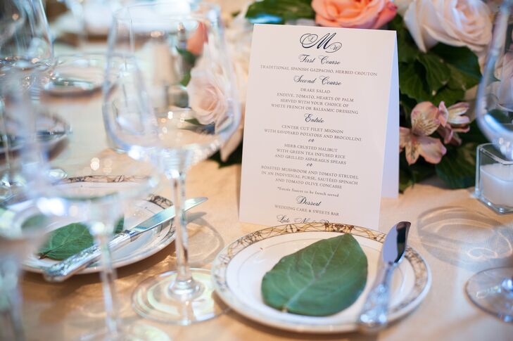 Leafy Place Settings and Classic Menus