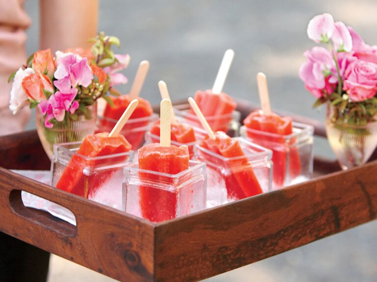 Red popsicle cocktail