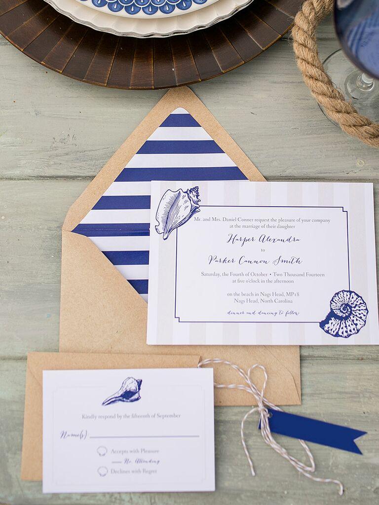 beach bridal shower ideas invitations