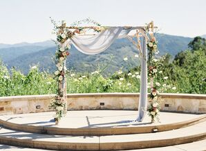 Wooden Ceremony Arch at Holman Ranch in Carmel Valley, California