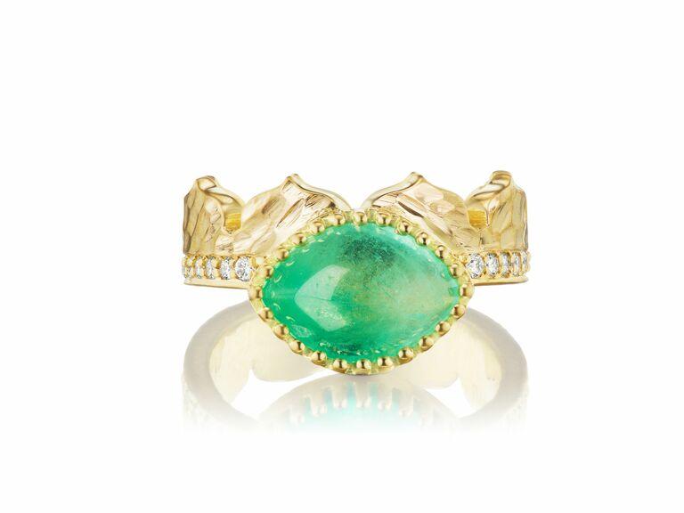Dana Bronfman x MUZO emerald engagement ring