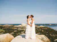 Maine wedding by the ocean bohemian dresses