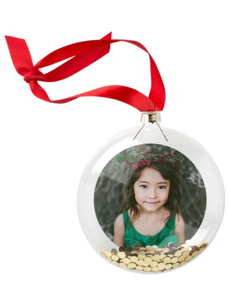 Shutterfly photo gallery glitter ornament romantic gift for wife