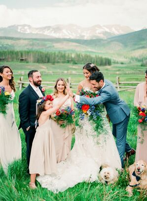 Wedding Party Portraits at Devil's Thumb Ranch in Tabernash, Colorado