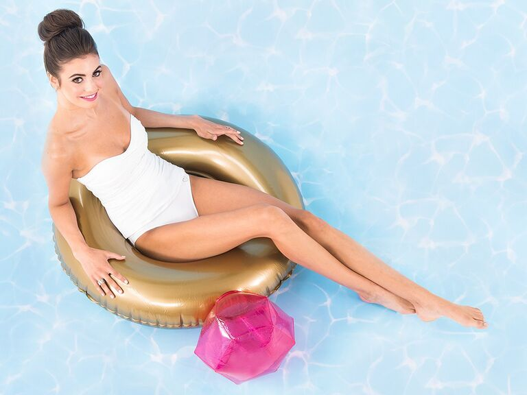 Diamond ring pool float bachelorette decoration