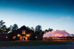 Tented Sandy Creek Barn Reception