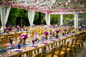 Eclectic Jewel-Tone Reception at The Foundry