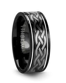 Mens Tungsten Wedding Bands W245-BLE4 Tungsten Wedding Ring