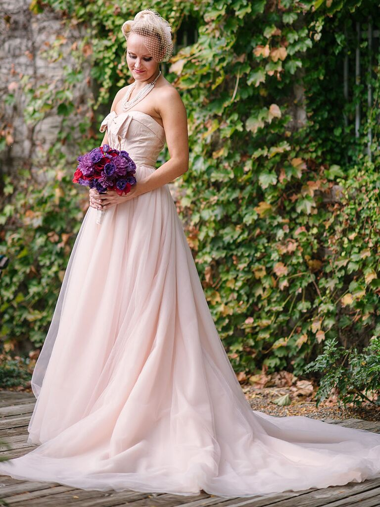 Blush Pink Wedding Gown By White Vera