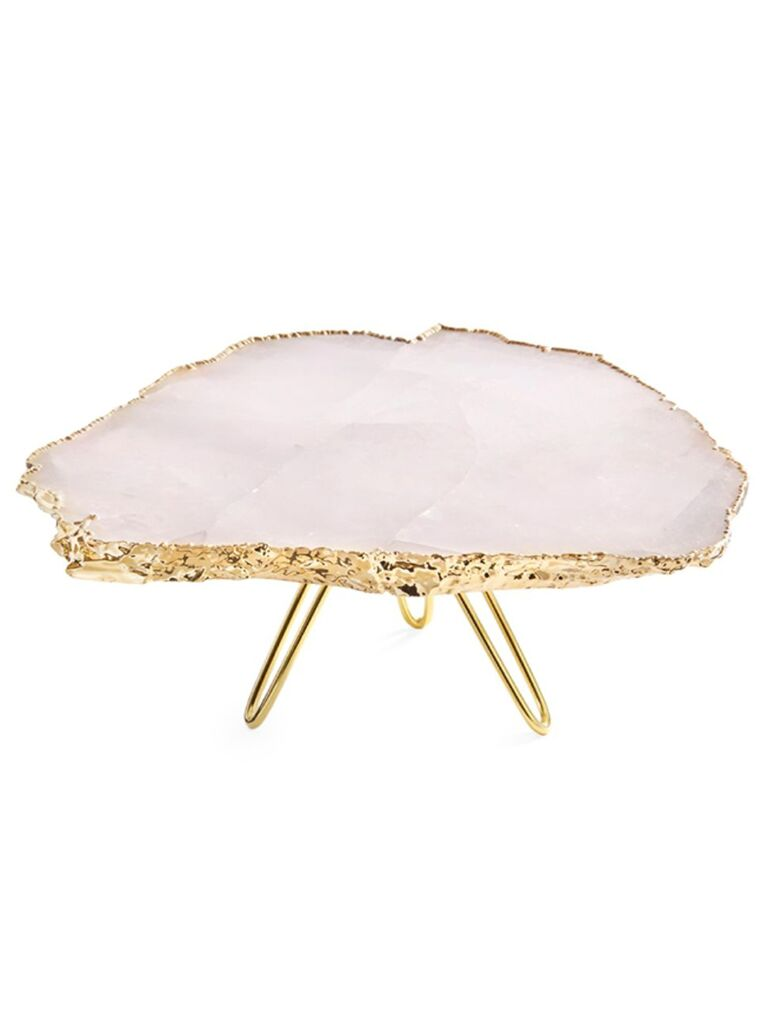 Pink agate wedding cake stand