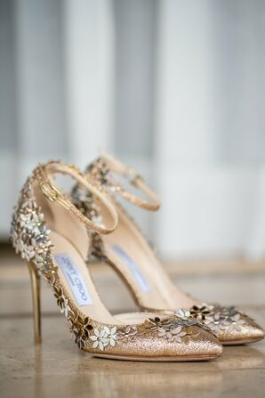 Glamorous Sequined Wedding Shoes