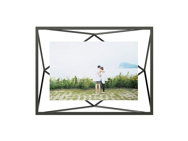 Modern picture frame engagement gift for her