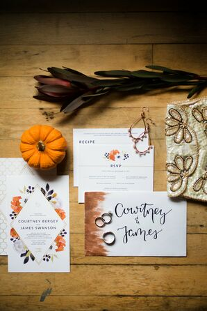 Rustic Invitation Suite with Fall Illustrations