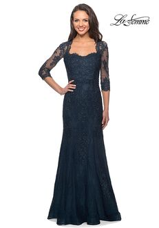 La Femme Evening 25369 Blue Mother Of The Bride Dress