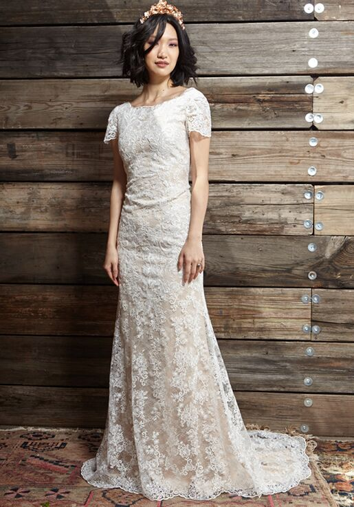 Ivy Aster Sylvia Sheath Wedding Dress