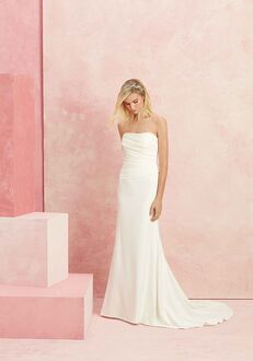 Beloved by Casablanca Bridal BL227 Simplicity Sheath Wedding Dress